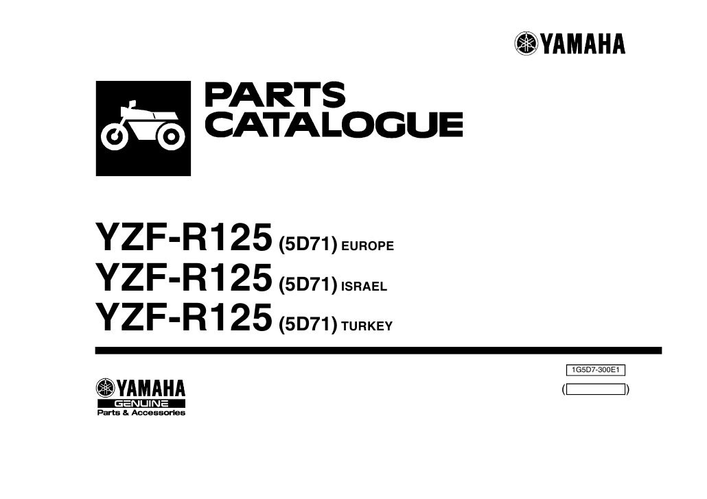 Moto yzf-r125-5 d71-2008piezas