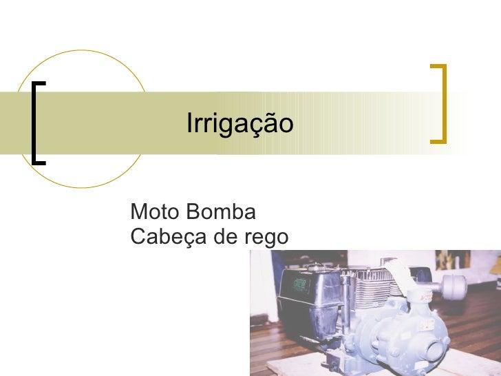 Irrigação Moto Bomba Cabeça de rego