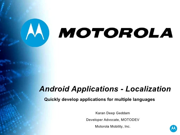 Quickly Develop Android Applications for Multiple Languages