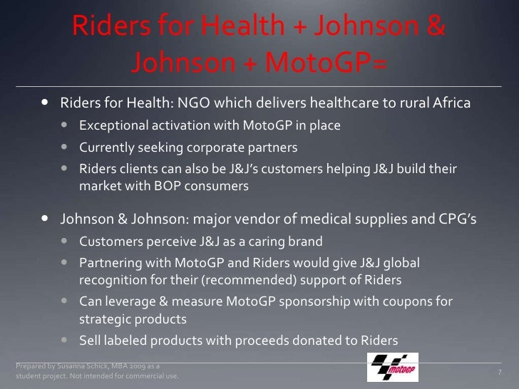 Riders for Health + Johnson & Johnson + MotoGP=<br />Riders for Health: NGO which delivers healthcare to rural Africa <br ...