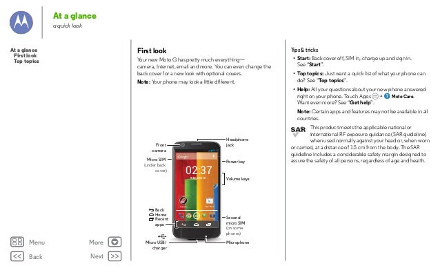 Moto g motorola manual guide.