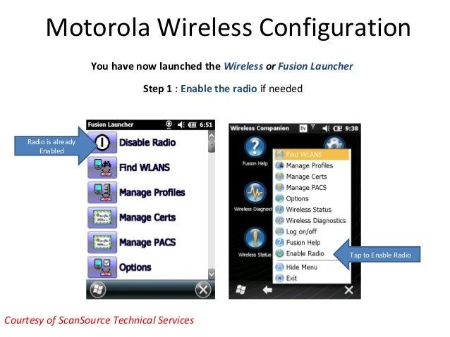 Motorola Solutions Mobile Computer Wireless Configuration