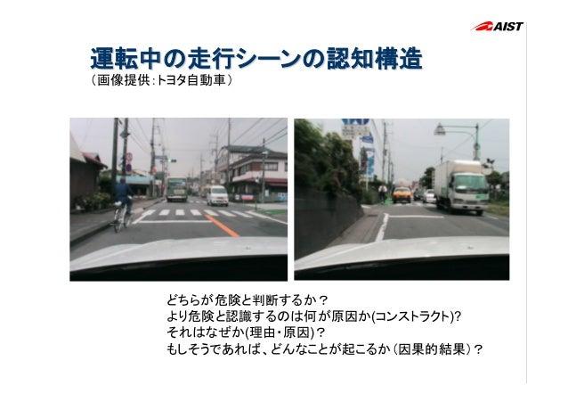 初心者の回答例                                 「注意を引くものがある、多いと怖い」                                 「バスやトラックなどの大きな車が気になる」   ...