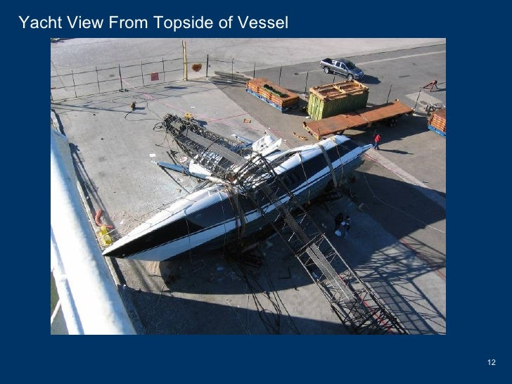 Yacht View From Topside of Vessel
