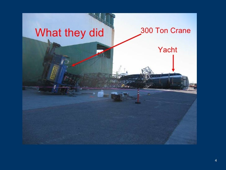 300 Ton Crane Yacht What they did