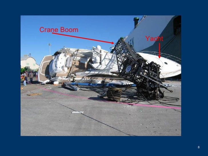 Crane Boom Yacht