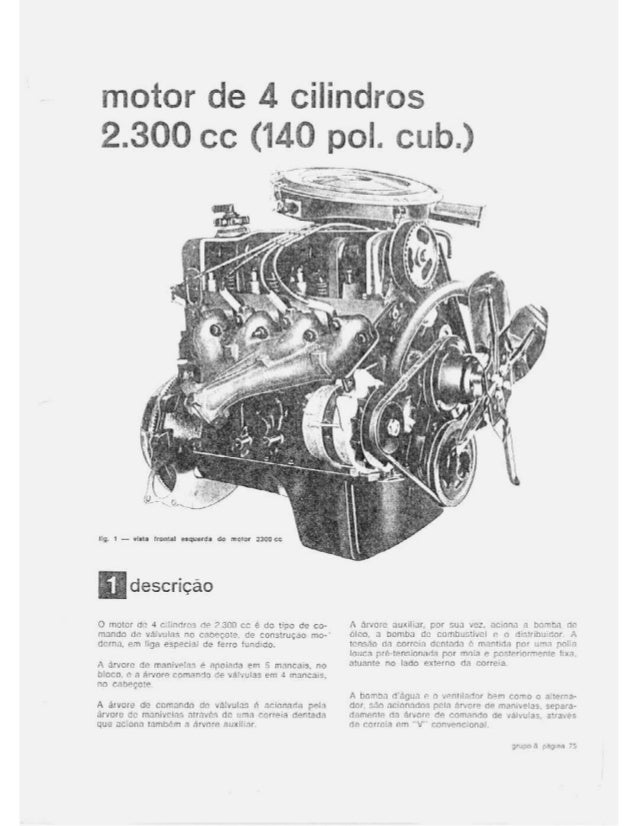 Motor 4 cilindros ( Mecânica Ford Maverick )