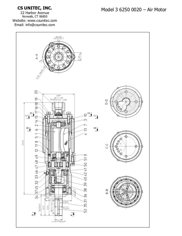 CS UNITEC, INC.           Model 3 6250 0020 – Air Motor    22 Harbor Avenue     Norwalk, CT 06850Website: www.csunitec.com...