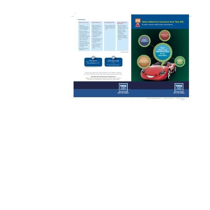Motor Car Insurance - Tata AIG General Insurance