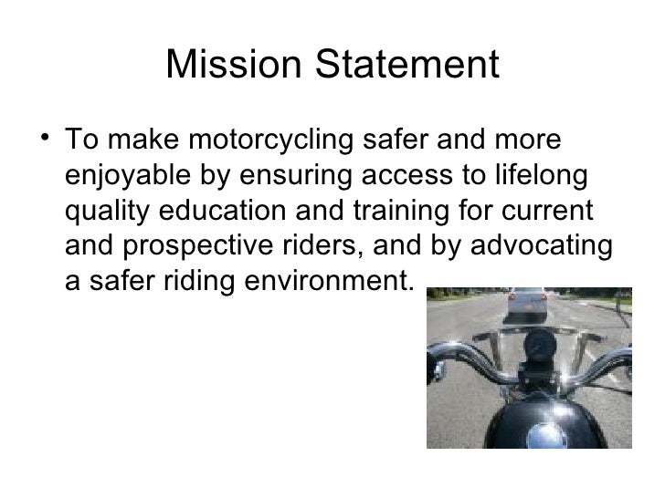 Ppt motorcycle rider training requirements powerpoint.