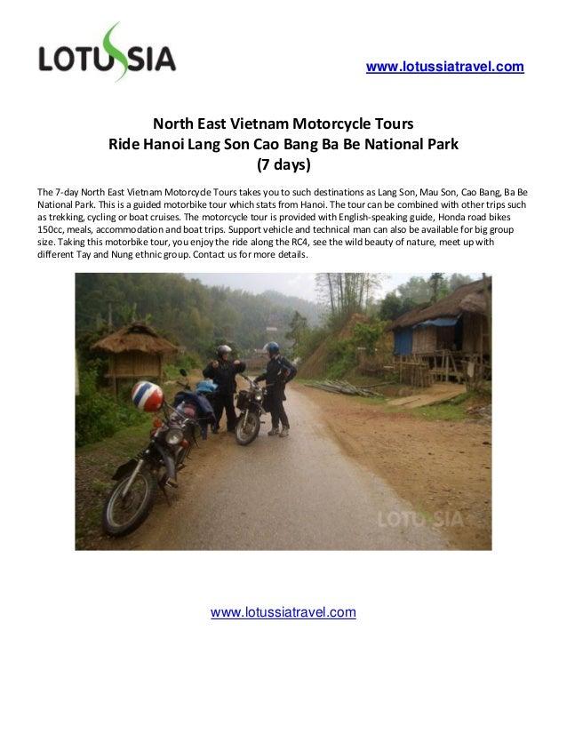 www.lotussiatravel.com                      North East Vietnam Motorcycle Tours                Ride Hanoi Lang Son Cao Ban...
