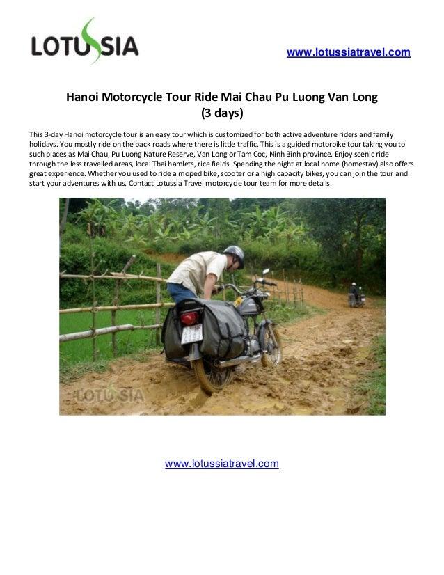 www.lotussiatravel.com           Hanoi Motorcycle Tour Ride Mai Chau Pu Luong Van Long                                  (3...