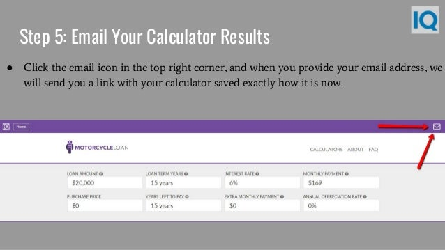 Motorcycle Loan Calculator  Motorcycle Payment Calculator