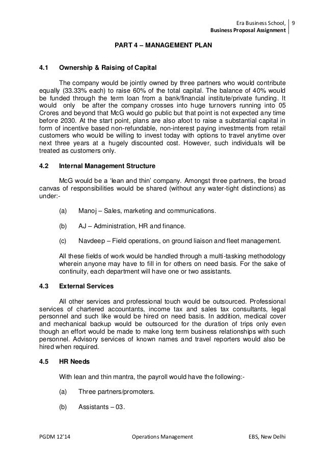 Motorcyle Gypsies A Business Proposal Document