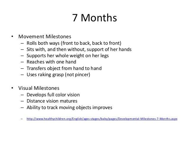 7 Months O Movement Milestones