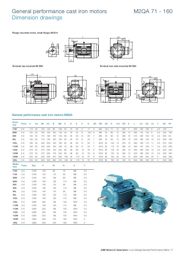 Motor i n abb ng c i n for Abb electric motor catalogue