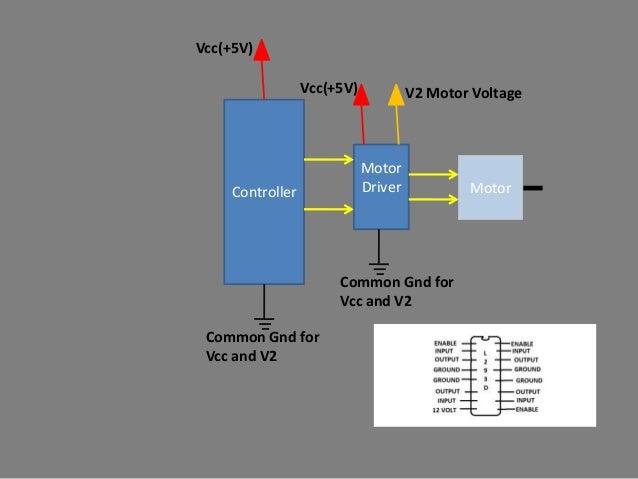 Vcc(+5V)                 Vcc(+5V)            V2 Motor Voltage                            Motor    Controller              ...