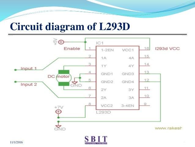 L293D Circuit Diagram Motor Driver | Motor Driver Ic L293d