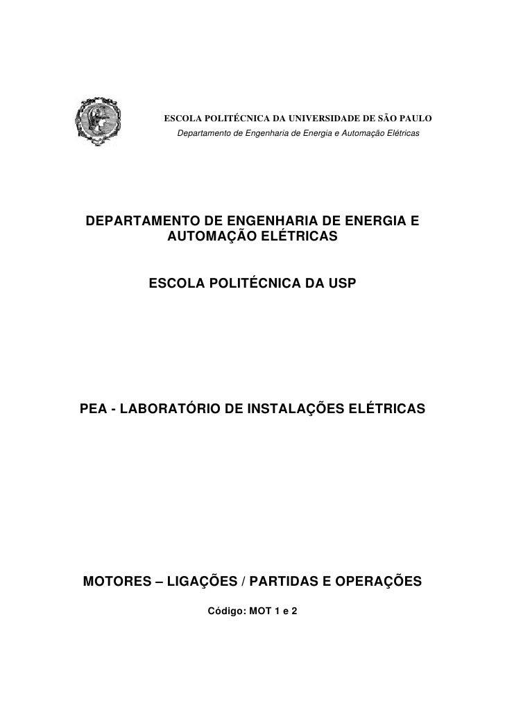 ESCOLA POLITÉCNICA DA UNIVERSIDADE DE SÃO PAULO            Departamento de Engenharia de Energia e Automação ElétricasDEPA...