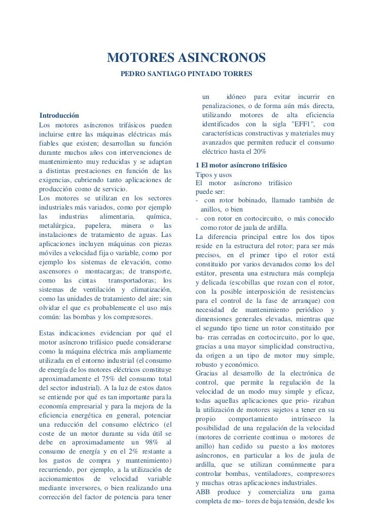 MOTORES ASINCRONOS                            PEDRO SANTIAGO PINTADO TORRES                                               ...