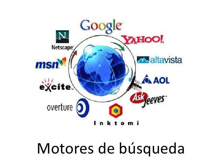 Motores de búsqueda