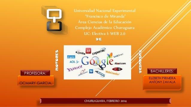 """Universidad Nacional Experimental """"Francisco de Miranda"""" Área Ciencias de la Educación Complejo Académico Churuguara UC: E..."""
