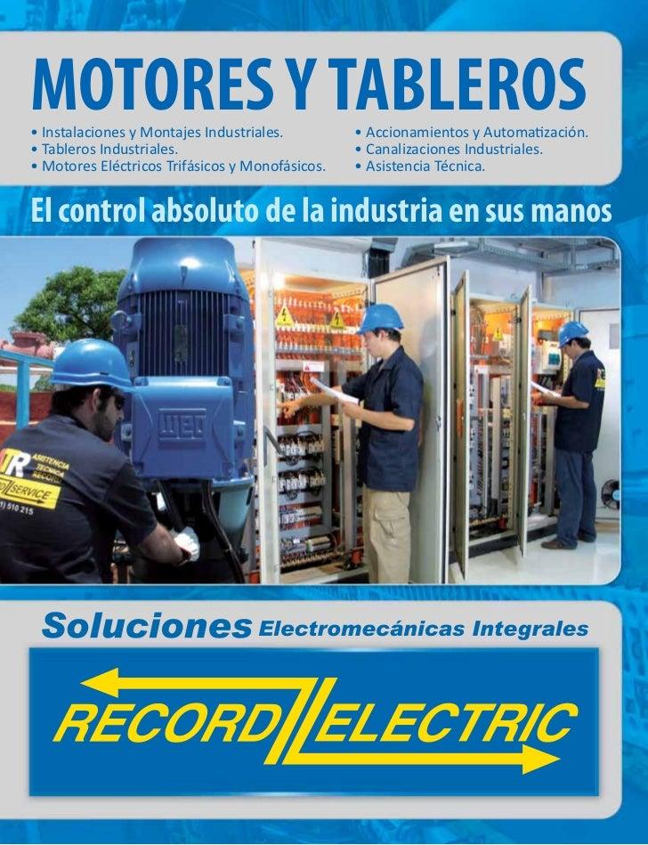 MOTORES Y TABLEROS• Instalaciones y Montajes Industriales.         • Accionamientos y Automatización.• Tableros Industrial...