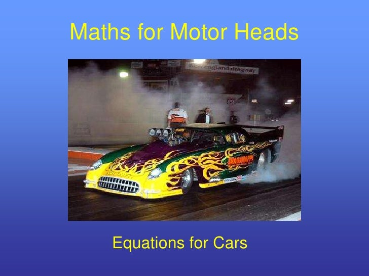 Maths for Motor Heads   Equations for Cars