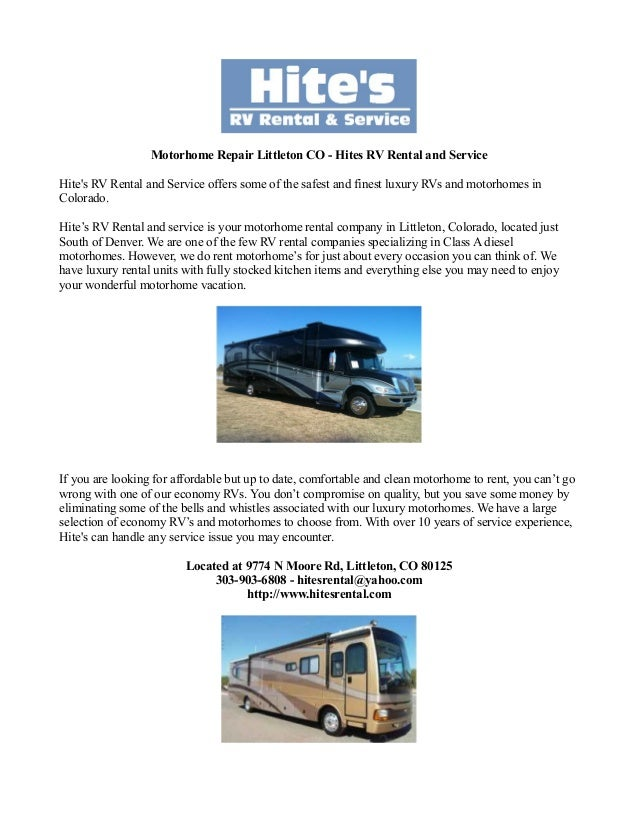 Motorhome Repair Littleton Co Hites Rv Rental And Service