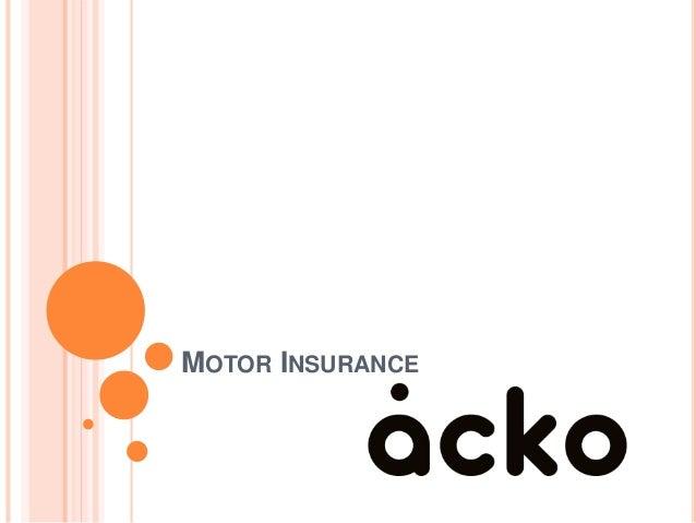 Motor Insurance Acko General Insurance