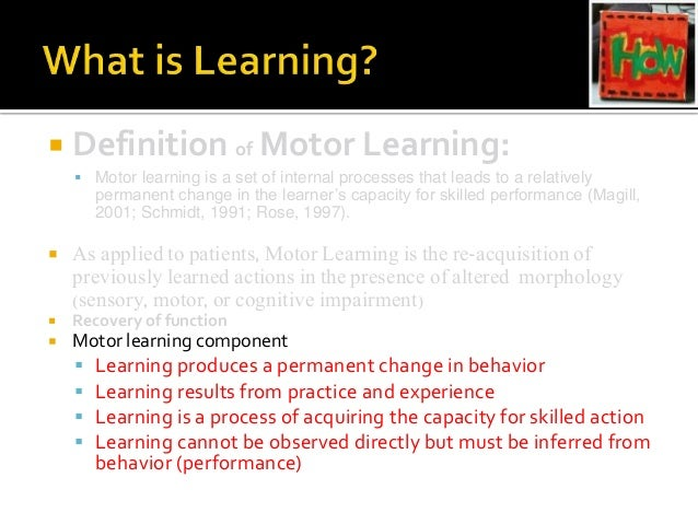 Principles of motor learning sch for Define commercial motor vehicle