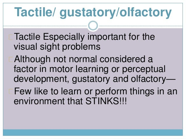 Motor Learning And Perception