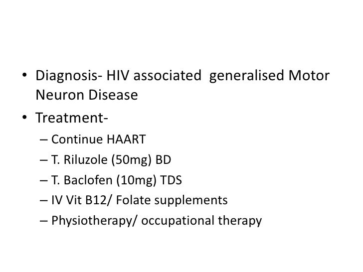 Motor Neuron Disease In Hiv