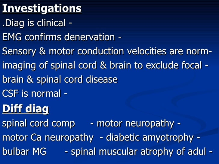 Motor neurone disease for Bulbar motor neuron disease