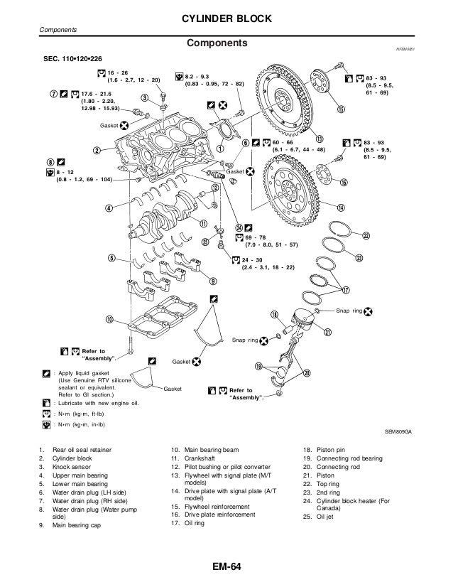 motor nissan vq35 de pathfinder lr50