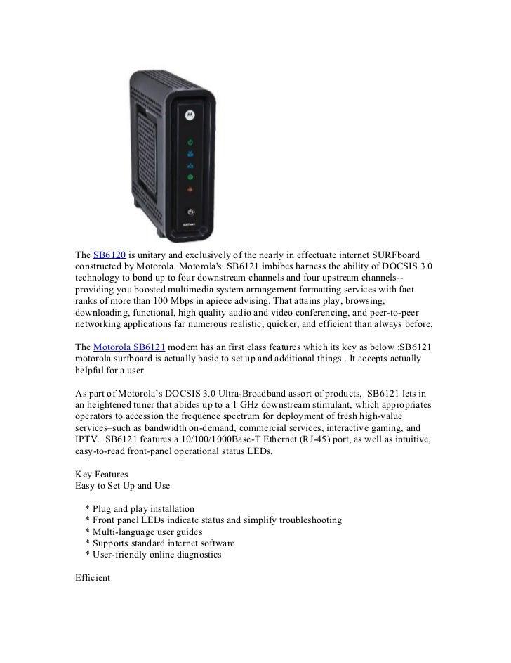 Motorola SB6121