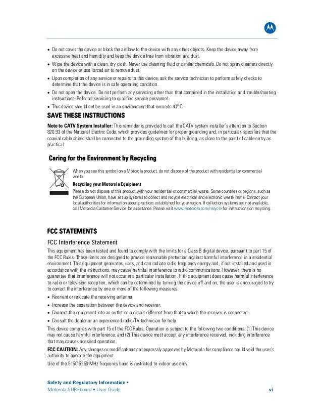 Motorola Modem User Guide Sb6580