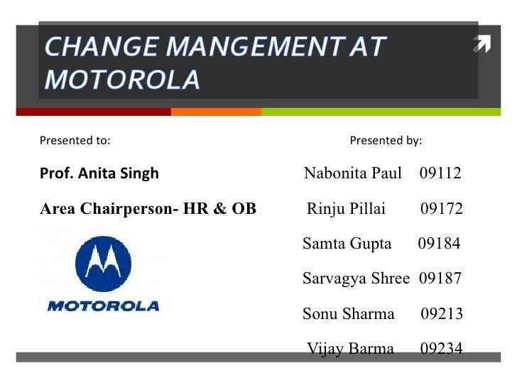 Presented to:  Presented by: Prof. Anita Singh    Nabonita Paul  09112 Area Chairperson- HR & OB    Rinju Pillai  09172 Sa...