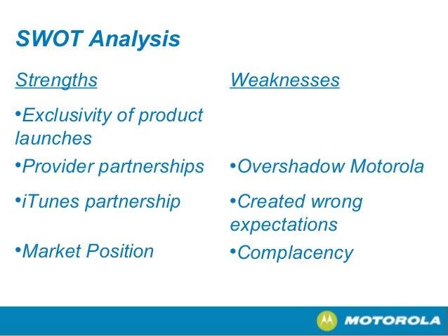 swot analysis of motorola