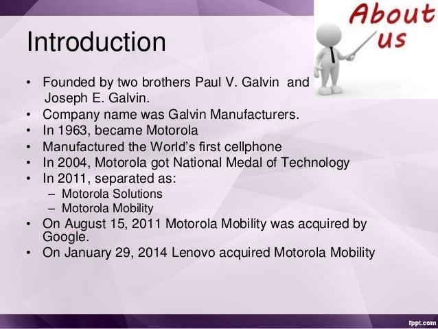 Motorola downfall and revival Slide 2