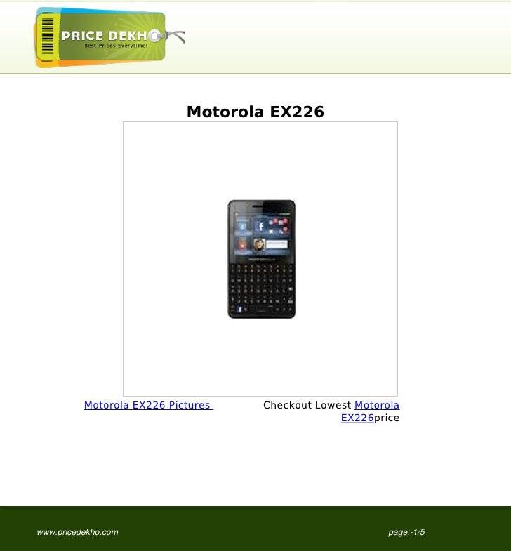 Motorola EX226          Motorola EX226 Pictures   Checkout Lowest Motorola                                                ...