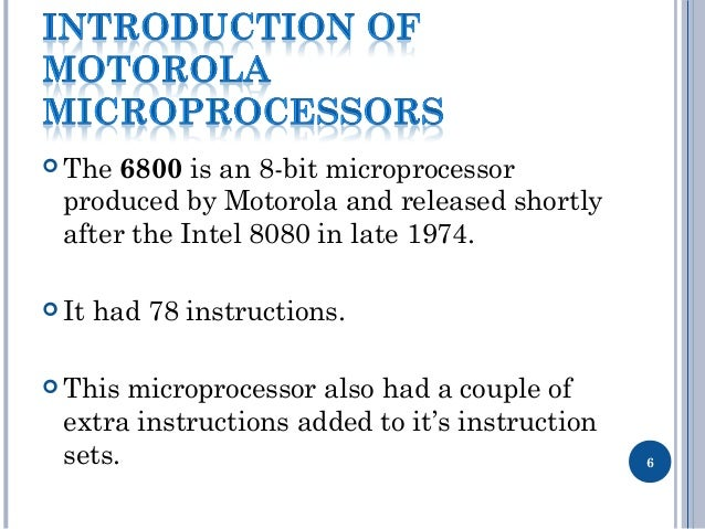 Motorola Microprocessor