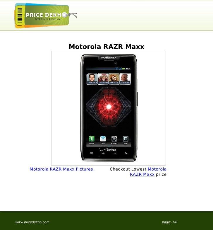 Motorola RAZR Maxx       Motorola RAZR Maxx Pictures   Checkout Lowest Motorola                                           ...