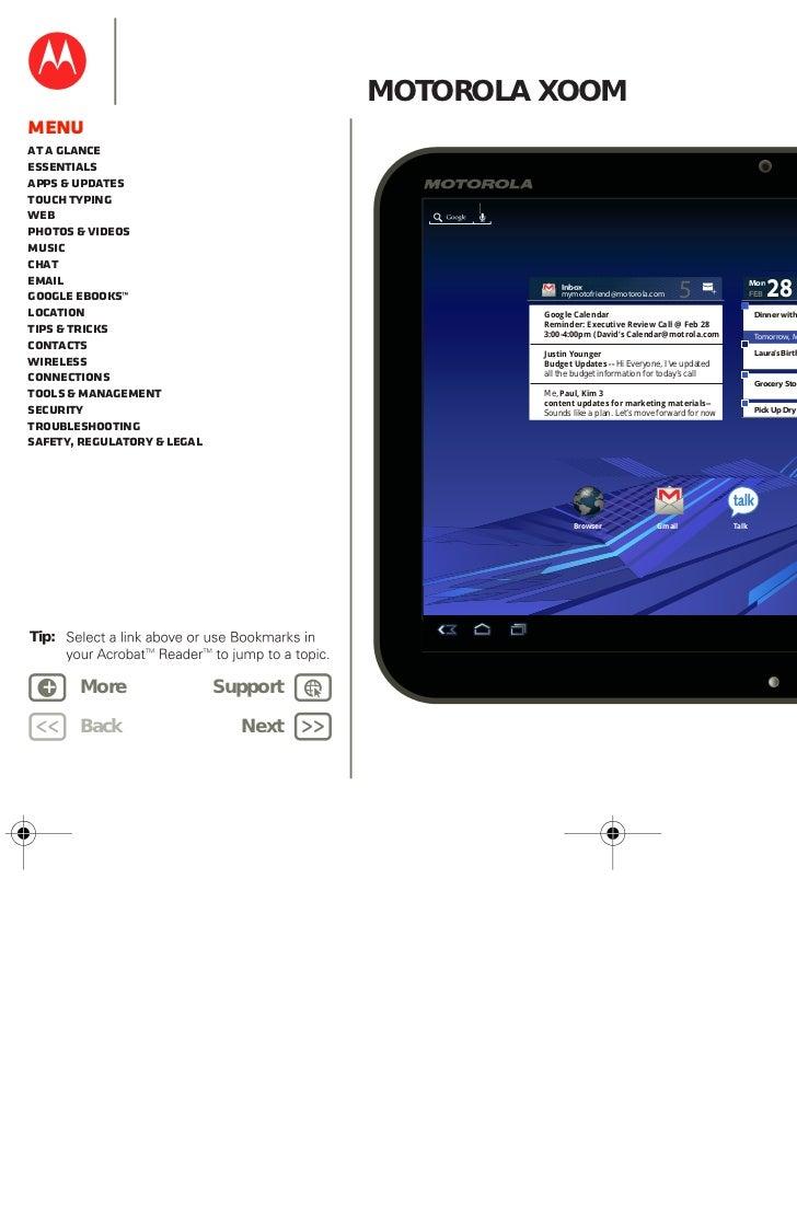 motorola xoom user guide rh slideshare net Surface Tablet User Manual Android 2.2 Tablet User Manual