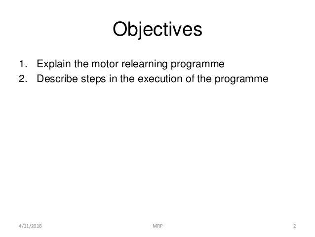 motor relearning programme pdf