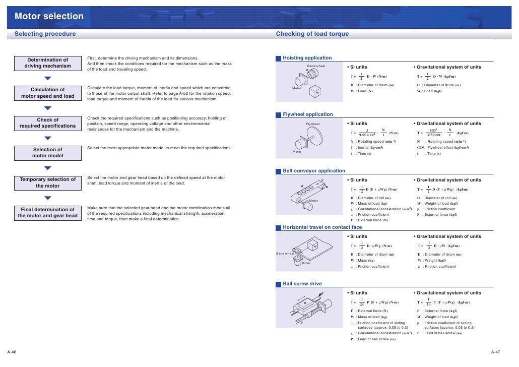 Motor selection   Selecting procedure                                                                                     ...