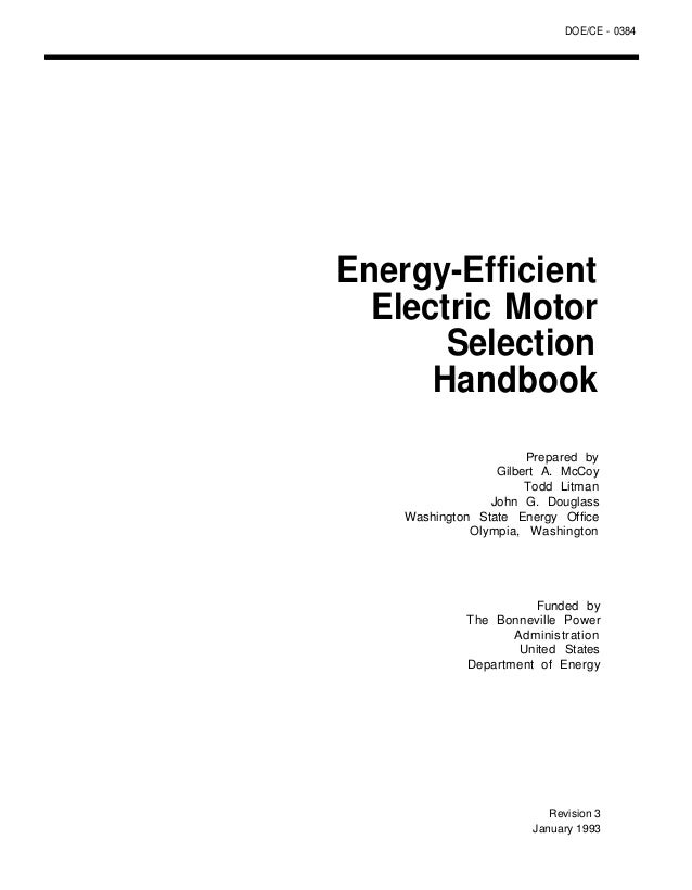 Energy Efficient Motor Selection