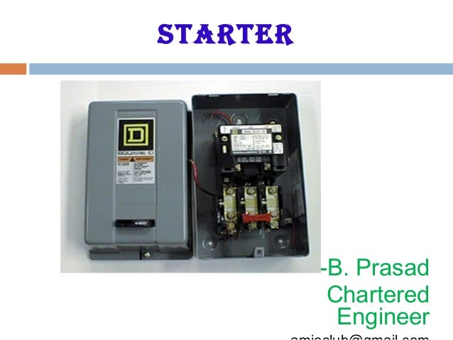 starter -B. Prasad Chartered Engineer