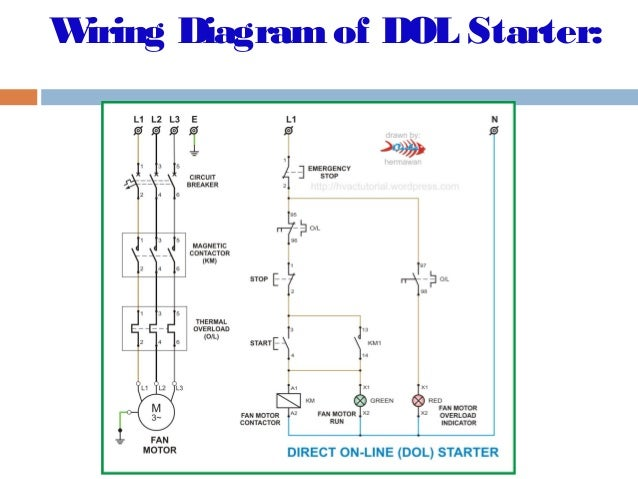 dol starter wiring diagram starting characteristics on wiring