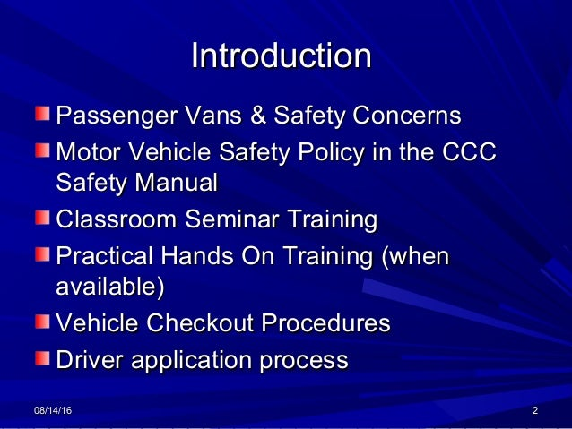 Motor vehicle safety program by ficurma Motor vehicle safety